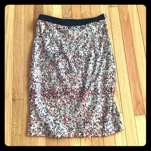 French Connection Pink Sequin Pencil Skirt